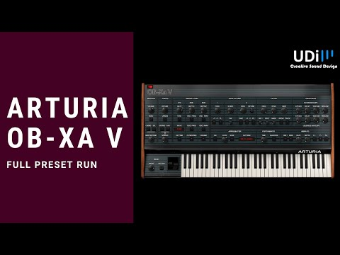 Arturia OB-Xa V – FULL PRESET RUN, Full synth tutorial is already in the channel